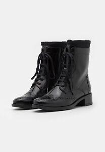 Unisa - ELMER - Schnürstiefelette - Black   Leder   39 EU   UK 6   UVP 159 €