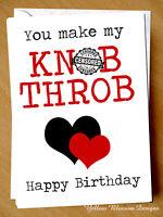Rude Birthday Card For Her Wife Girlfriend Cheeky Adult Naughty Blunt Love Joke