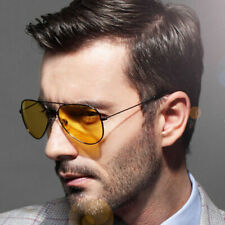 High End Aviator YELLOW LENS Day / Night Vision Sunglasses Night Driving Glasses
