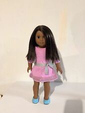 American Girl TRULY ME AFRICAN AMERICAN Doll Brown Eyes Hair Pink Dress-Stunning