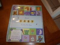 "9x11.5""  BOOK RECORD baby  memory keepsake sweet first five new seasons animals"