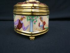 Lovely Romeo & Juliet Music/Trinket Box With Lid Velvet Interior Tfm Vgc