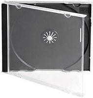 CD Plastic Jewel Disc Cases Cover Single Storage Pack Holder 25 Wallet Housings