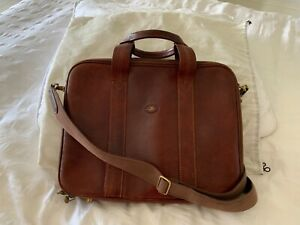 THE BRIDGE Leather Laptop Briefcase with multi compartments