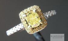 .35ct Fancy Intense Yellow VS1 Cushion Cut GIA Well Cut R5445 Diamonds by Lauren