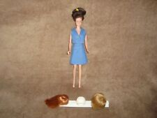 Vintage MATTEL BARBIE Midge Wig Japan Doll With 3 wigs on stand
