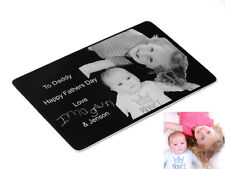 Personalised Photo Engraved Keepsake purse/wallet Card Great Perfect GIFT