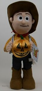 Disney Toy Story 4 Woody with Pumpkin 22 in Halloween Porch Greeter NWT
