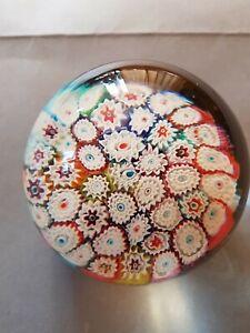 Murano Milifiori Glass Paperweight