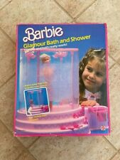 BARBIE DOLL GLAMOUR BATH SHOWER FURNITURE ACCESSORIES VINTAGE 1985