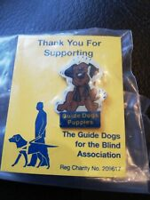 Guide Dogs For The Blind Association Charity Enamel Pin Badge Puppies FREE POST