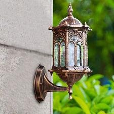 Usa Lantern Outdoor Garden Retro Exterior Aluminum Glass Lamp Wall Light Fixture
