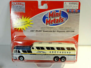 CLASSIC METAL WORKS MINI METALS - GRAYHOUND GMC PD-4501 SCENICRUISER - NEW YORK