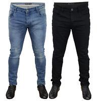 Mens Skinny Denim Jeans Brave Soul Ripped Slim Fit Stretch Trousers Fashion New