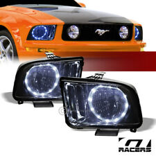 For 2005 2009 Ford Mustang Smoke Housing Drl Led Halo Ring Headlights Lamps Nb Fits Mustang