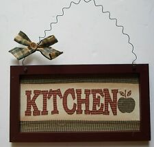 country framed fabric sign kitchen wall hanger