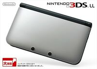 Nintendo 3DS LL Silver Black Console Game Japan NEW