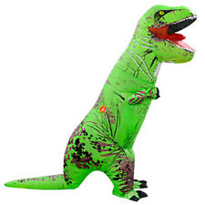 Inflatable Dinosaur Costume T-Rex Adult Festival Funny Dress Cosplay Suit, Green