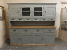 RUTLAND PAINTED 7FT 4 DOOR DISPLAY DRESSER- RECLAIMED TOP- BESPOKE