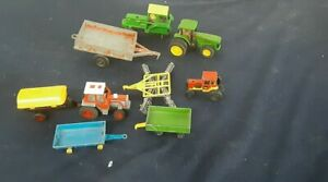 Vintage toy farm tractors trailers hubley lesney china