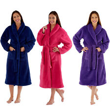 Womens Dressing Gown Ladies Fleece Lady Olga Luxury Winter Warm Robe Plus Size
