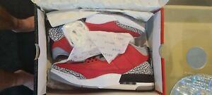 Air Jordan 3 Retro SE Fire Red Cement SIZE US 12 Mens Nike (Deadstock)