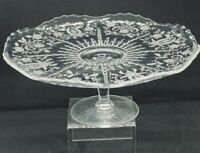 Vinking Vintage Etched PRELUDE Pattern 4 1/2 tall Cake Stand Pristine