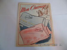 MON OUVRAGE N°67 04/1954 DRAP ENFANTS MODE COUTURE TRICOT DECO BRODERIE   I29