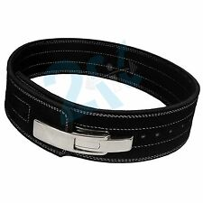 2fit Weight Power Leather Lever Pro Belt 10MM Gym Training Power lifting BLACK