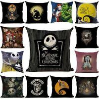 Nightmare Before ChristmasPillowCase Cushion Cover Halloween Home Xmas Gift