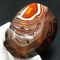 TOP 230G Natural Polished Banded Agate Crystal Madagascar Healing WA281