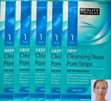 Deep Cleansing Nose Pore Strips x5 - Unclog Remove Bleackheads - Beauty Formulas