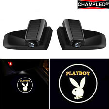 CHAMPLED For PLAYBOY Car LED Door Projector LOGO Shadow light emblem WIRELESS