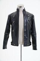 "Michael Jackson ""Beat It"" Black Pleather Jacket Coat Cosplay Costume"