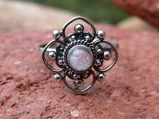 SMALL MOONSTONE 925 SILVER RING SIZE J * US 4.75 SILVERANDSOUL JEWELLERY