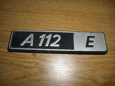 Emblem / Badge Autobianchi A 112 E Plastik ca. 15 cm lang
