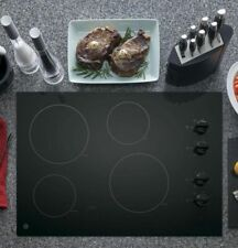 GE Cooktop 30-in Smooth Surface (Radiant) Black Electric Cooktop NEW