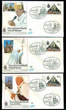 Germany 1987 Pope John II,Cathedral,Windmill,Religion,Architecture,10 x FDC