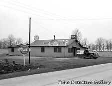 Tavern with Beer & Coca-Cola Signs, Illinois - 1939 - Historic Photo Print