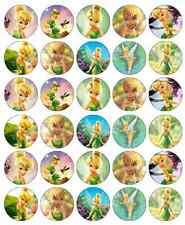 30 x Tinkerbell Disney Cupcake Toppers Edible Wafer Paper Fairy Cake Toppers