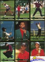 2001 Legends Tiger Woods Gold Bordered Grand Slam Rookie Set with 18 Cards!