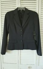 Tahari Whitney jacket size 8 gray fitted short lined blazer top