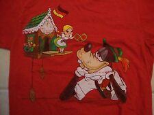 Walt Disneyland Resort Goofy Germany Small World Octoberfest Red T Shirt Size S