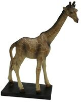 Large 32cm Giraffe Ornament Wildlife Tall Ornament On Stand Figurine