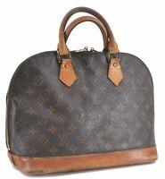 Authentic Louis Vuitton Monogram Alma Hand Bag M51130 LV C3448