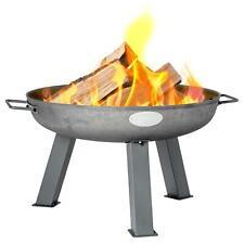 Garden Fire Pit Cast Iron Outdoor Brazier Style Flame Basket Patio Heater 60cm
