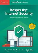 Kaspersky Internet Security 2019 3 Users Multi Device inc Antivirus Download Key
