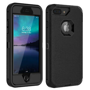 For iPhone 6 6s 7 8 Plus Case w/ Screen Protector Series Fits Defender Belt Clip