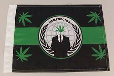 Anonymous 420 Weed Snokers Hempsec Hempsector Marijuana flag