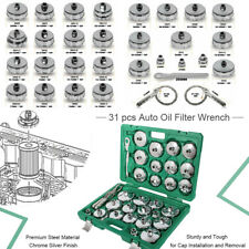 31pcs Oil Filter Socket Wrench Cup Type Cap Removal Set With 38 Drive Adaper